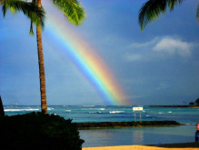 ハワイ写真 虹